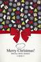 Christmas pattern menu template vector-1