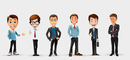 Businessman Vector Character Set 2