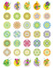 Korea pattern icon vector icons series