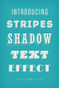 Stripes Shadow Text Effect