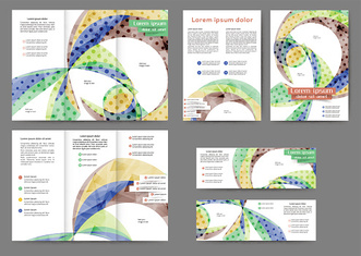 Colored abstract brochure template