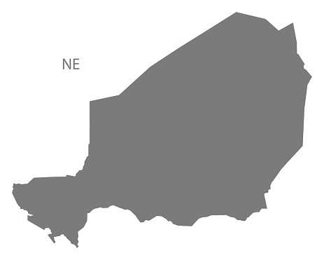 Niger Map grey