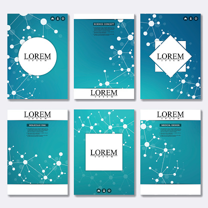 Set of business templates for brochure, flyer, cover magazine in