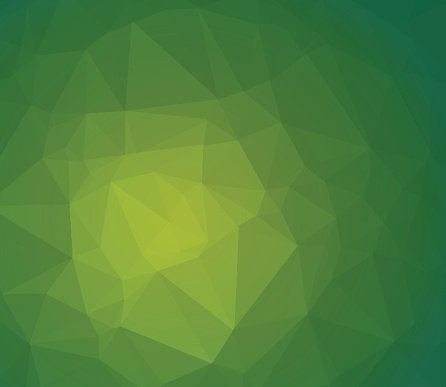 Green Abstract Polygonal Background With Geometric Vector