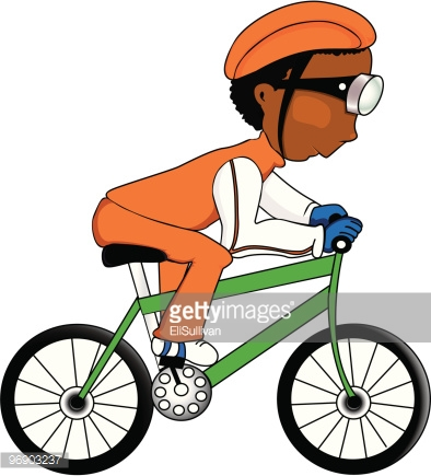 african american man cycling