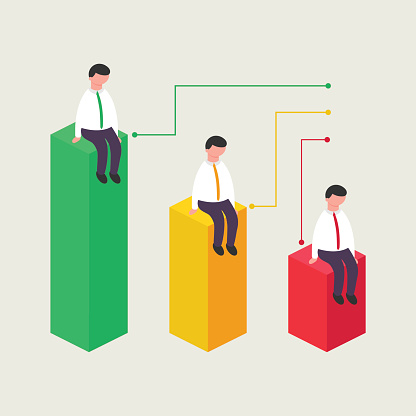 Vector illustration of business success, isometric style