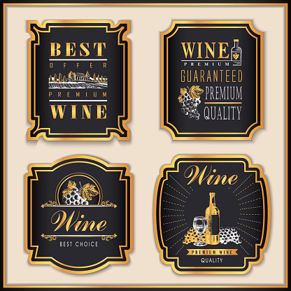 golden winery labels