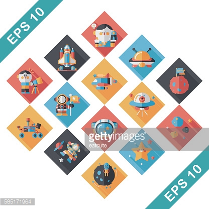 Space and asyronomy icons set