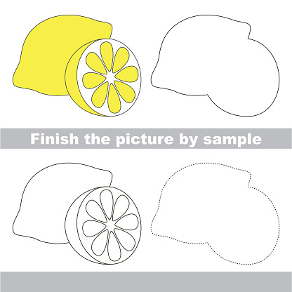 Sour lemon. Drawing worksheet.