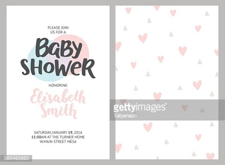Baby shower girl and boy invitations, vector templates. Shower p