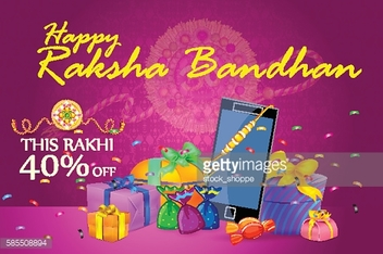 Decorated Rakhi with gift for Raksha Bandhan Sale