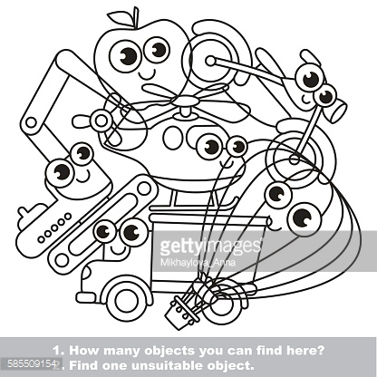 Funny toy machines mishmash set in vector.
