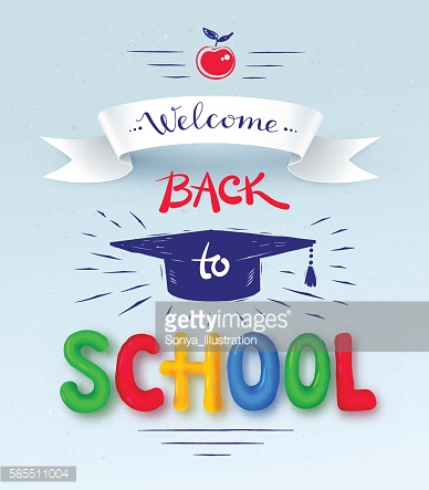 Back to School poster with plasticine letters