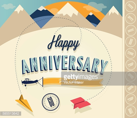 Anniversary sign collection and cards design