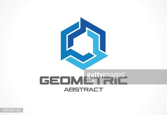 Abstract sign for business company. Industry, finance, bank idea. Square