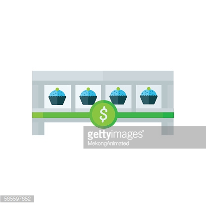 cup cake icon Green, Bule Color
