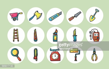 Worker tools icons set,eps10