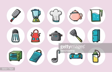 Kitchen and cooking icons set,eps10