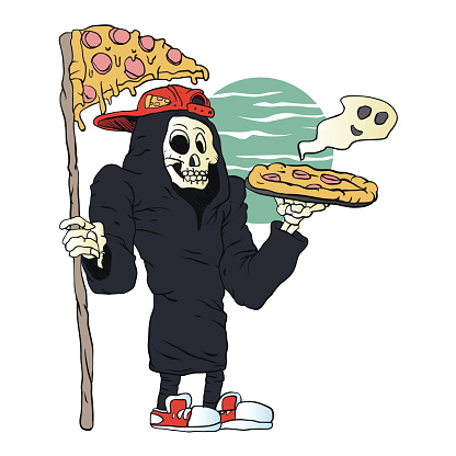Pizza delivery reaper grim