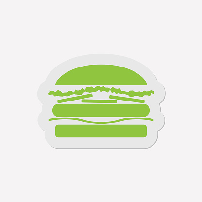 simple green icon - hamburger