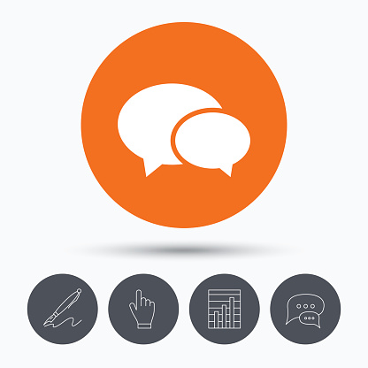 Chat icon. Speech bubble sign.