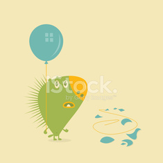 Porcupine with a Balloon