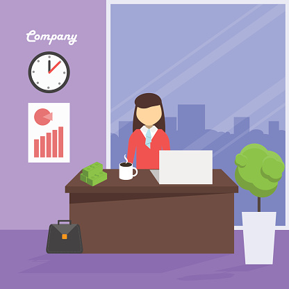 Workplace manager, vector illustration
