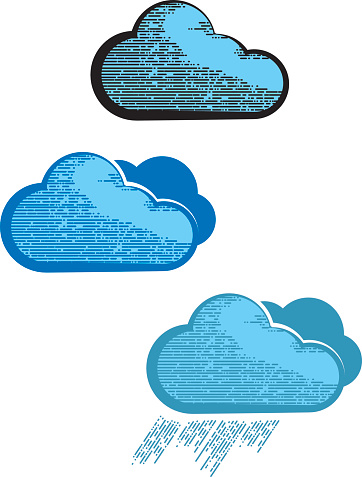 Creative clouds icon for your business