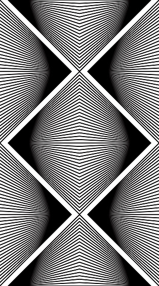 Black and white illusive abstract geometric seamless pattern