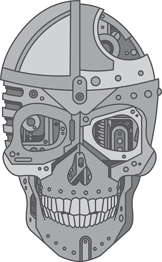 mechanical skull