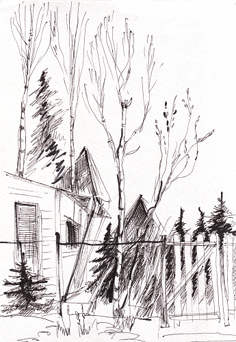 Instant sketch, house