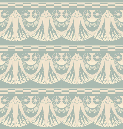 Antique seamless background 532 vintage nature flower garden