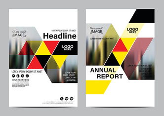 Brochure Layout design template. Annual Report Flyer Leaflet vector
