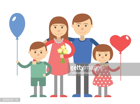 Family vector illustration people white background.