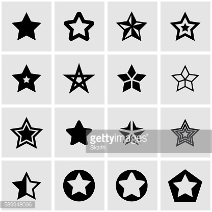 Vector black stars icon set