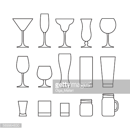 Drinking glass set.