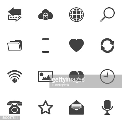 Contact icons  stock vector set