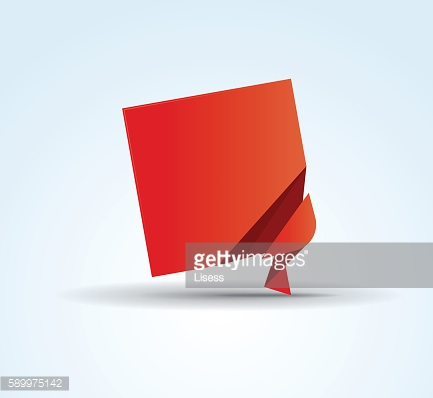 Origami vector banner template