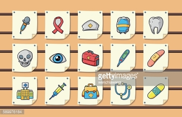 Hospital and medical icons set,eps10