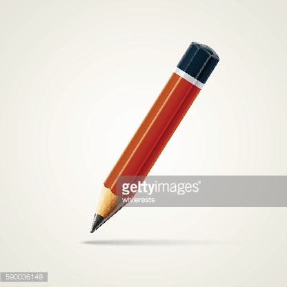 Realistic detailed sharpened pencil isolated on white background. Vector illustration