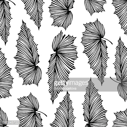 Trendy tropical seamless pattern.
