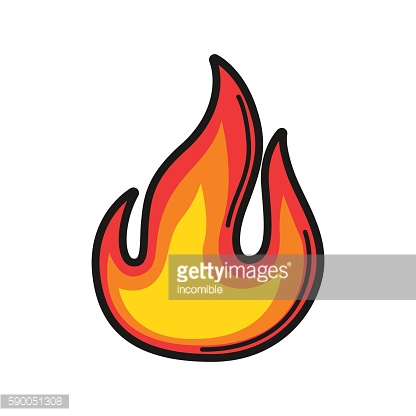 Illustration of fire. Icon on white background
