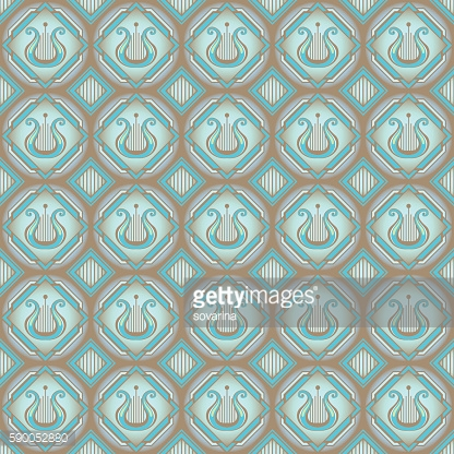 Lira. Seamless pattern