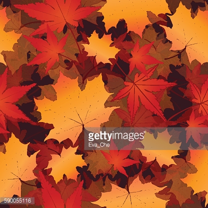 Leaf seamless pattern, vector background