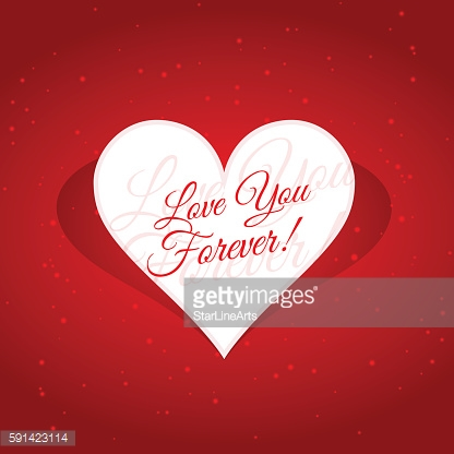 love you forever message in heart