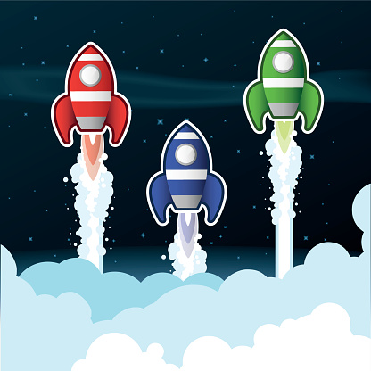 Rockets above Clouds