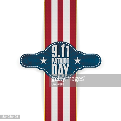 Patriot Day 9-11 realistic patriotic Banner