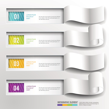 Abstract 3D Paper infographic design.