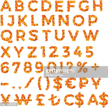 Autumn Leaves Discount Alphabet and Numbers