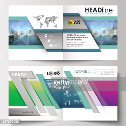 Business templates for square design brochure, magazine, flyer, booklet or